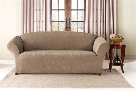 stretch slipcover for couch sure fit stretch stripe 2 piece sofa slipcover furniture