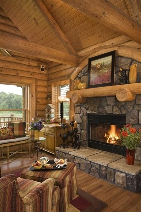 log cabin living rooms 55 airy and cozy rustic living room designs digsdigs