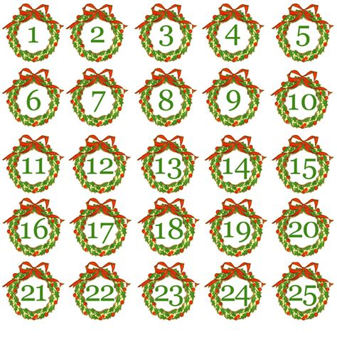 printable calendar numbers christmas new calendar advent calendar number new calendar template site