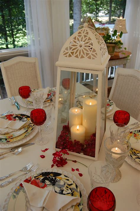 valentines table decoration ideas candlelight table setting porch and