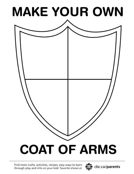 coat of arms template for students make your own coat of arms symbols arms and template