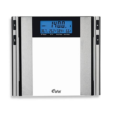 bed bath and beyond scale weight watchers 174 by conair glass satin nickel body analysis bathroom scale bed