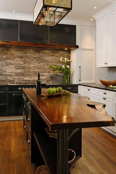 ilot cuisine bois id 233 e relooking cuisine meubles bois massif brut cuisine