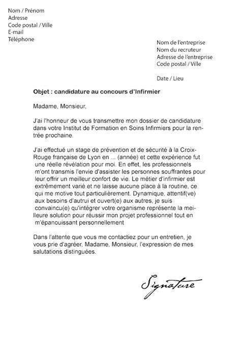 Exemple De Lettre Motivation Infirmière Lettre De Motivation Infirmiere Le Dif En Questions