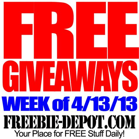 Giveaway Free - free giveaways week of 4 13 13 freebie depot