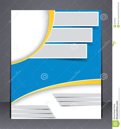 brochure design in blue and yellow colors stock vector