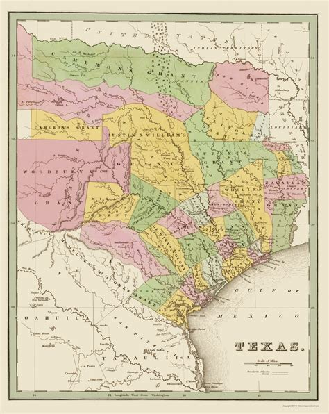 texas land grants map state maps texas eastern landowner grants tx by bradford 1838