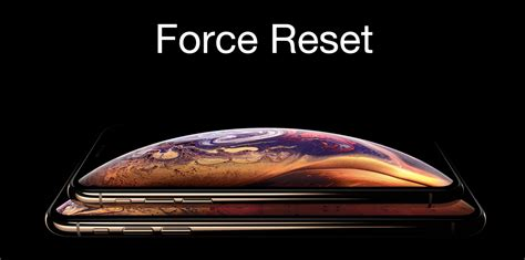 force reset iphone xs  iphone xs max tutorial