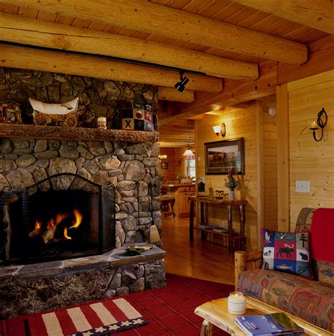romantic log homes real log style