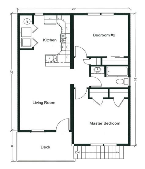 House Plan With 2 Bedrooms by 2 Bedroom Bungalow Floor Plan Plan And Two