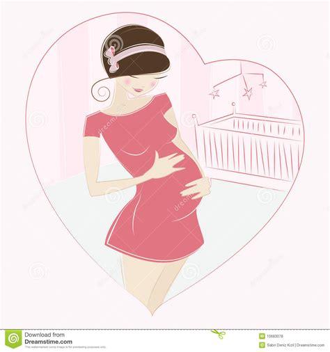 imagenes animadas embarazo vector de la mujer embarazada ilustraci 243 n del vector