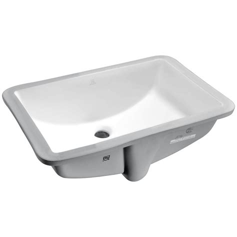 bathroom ls home depot anzzi pegasus series 8 5 in ceramic undermount sink basin