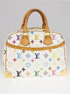 louis vuitton white monogram multicolor trouville bag