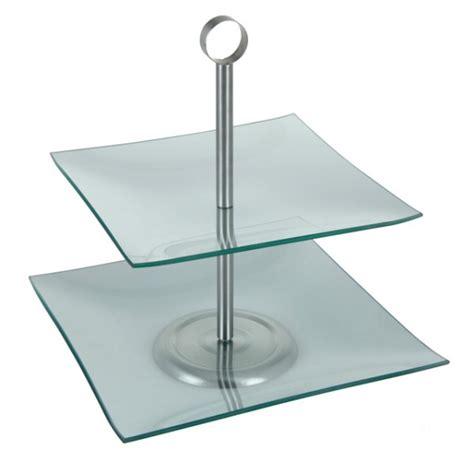 etagere eckig etagere mit zwei ablagen glas rund eckig h 16 5 cm