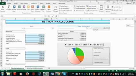 excel net worth template youtube