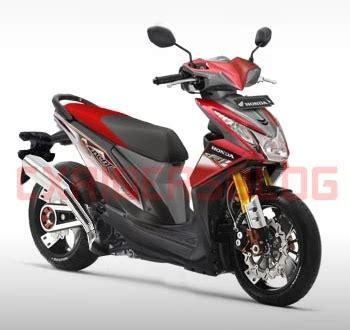 Spakbor Depan Honda New Beat Fi 2016 Terbaru Warna Hitam modif beat fi cxrider