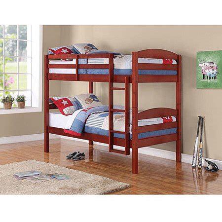 mainstays twin  twin bunk bed cherr walmartcom