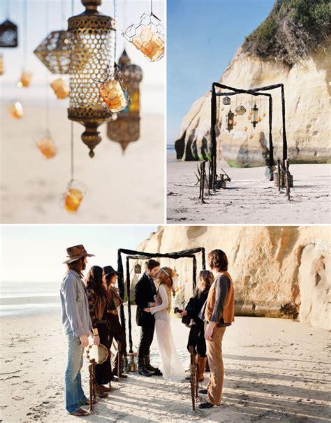 Bohemian Beach Wedding Ideas   Green Wedding Shoes