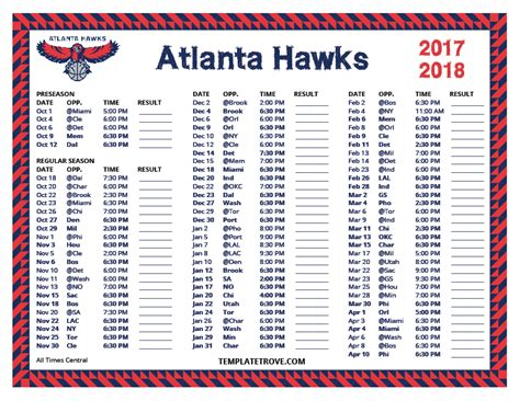 printable schedule for atlanta braves atlanta hawks roster entire tips page