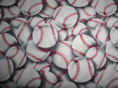 Baseball Quilt Fabric by Baseball Sports League Cotton Fabric
