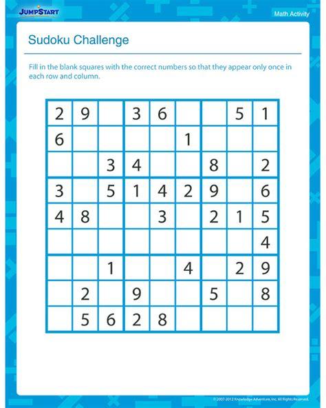 printable sudoku challenge sudoku challenge view fun math activity for 3rd grade