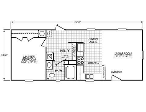 mobile home floor plans 1 bedroom mobile homes ideas palm harbor s model 16401g is a manufactured home of 620