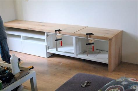 besta mit arbeitsplatte que madera elegir para estructura de mueble tv