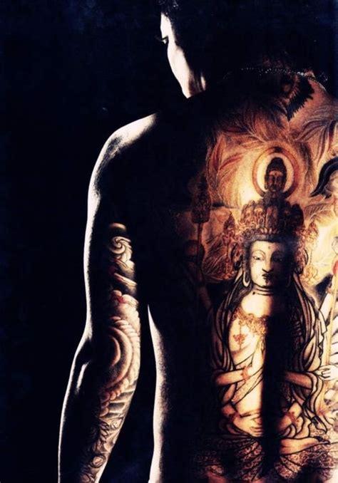 kyo tattoo back dark buddha back piece tattoo design tattooshunt com