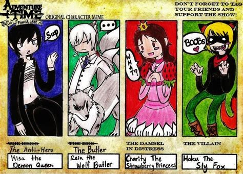 Adventure Time Original Character Meme - adventure time ocs meme by kisakim on deviantart