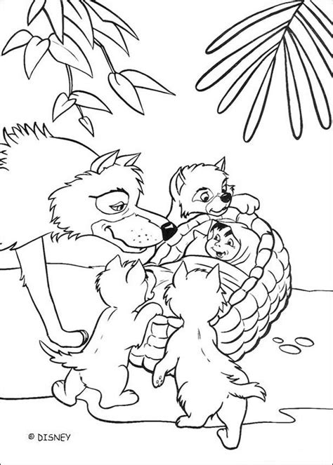 jungle cubs coloring pages mowgli and the wolves coloring page coloring pages
