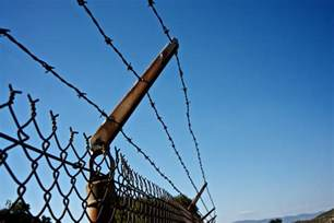 how to secure wires barbed wire security fence free stock photo