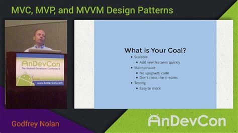mvp pattern youtube mvc mvp mvvm design patterns with godfrey nolan youtube