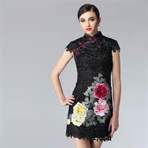 Floral modern mini qipao short chinese cheongsam dress modern qipao