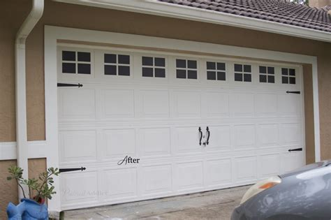 Garage Door Faux Hardware by Creating A Faux Carriage Garage Door Addict
