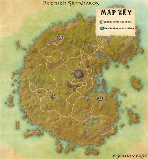 skyshard eso locations map elder scrolls online betnikh skyshard location guides