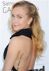 hayden panettiere cuts a glamorous figure in a ruffled