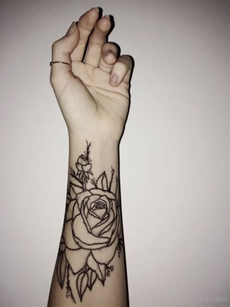 flower tattoo rose 41 graceful flowers wrist tattoos