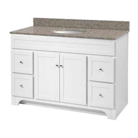 48 Inch Bathroom Vanity White Worthington 48 Inch White Bathroom Vanity Burroughs Hardwoods