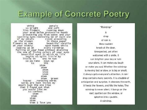 17 best ideas about concrete poem exles on pinterest