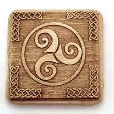 Wax Seal Sts C spiral triskelion triskele wax seal charm pendant