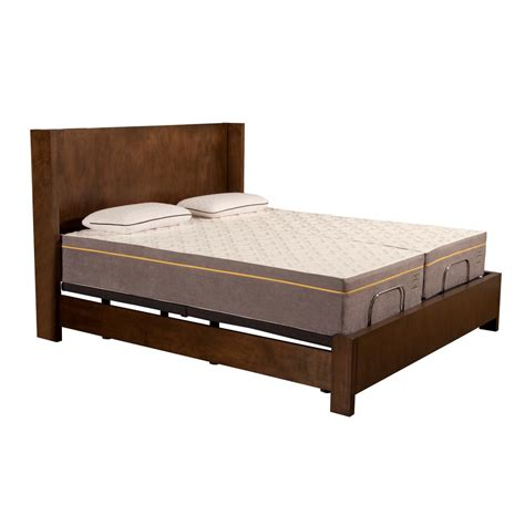 blissful nights 12 in lilac split california king memory foam mattress and m1500 adjustable