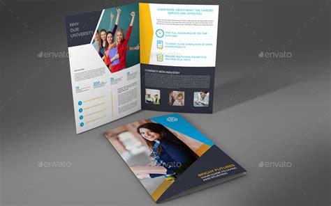 brochure template university university college bi fold brochure template by