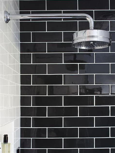 Black subway tiles contemporary bathroom urrutia design
