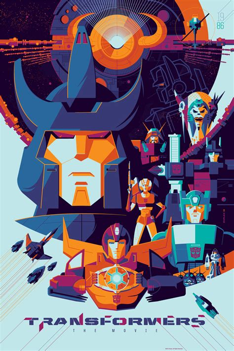 Transformers Movie 1986 Film Transformers The Movie Poster Art From Tom Whalen Geektyrant