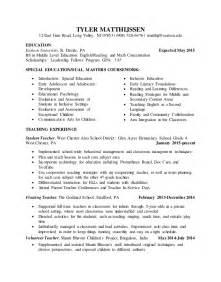 Student Teaching Resume Edit