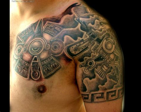 aztec tattoos for men awesome aztec tattoos for tattooshunt