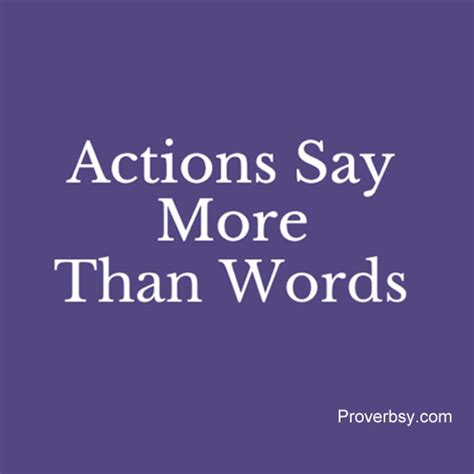 Metropop More Than Words actions say more than words proverbsy
