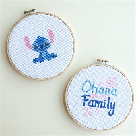 cadena de amor espiritualidad de la cruz lilo stitch cross stitch disney family
