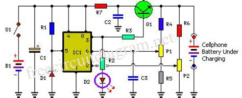 mobile charger using ic 555 circuit diagram circuit 10 08 10