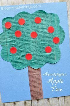 wine cork sted apple tree craft i heart crafty things this simple painted newspaper apple tree craft is perfect